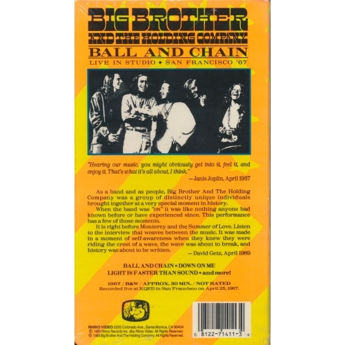 Big Brother & The Holding Company - Ball and Chain - VHS - VHS