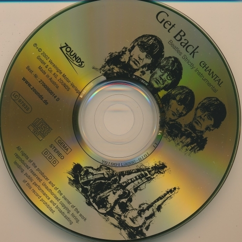 Chantal - Get Back - Beatles Strictly Instrumental  - CD - Album