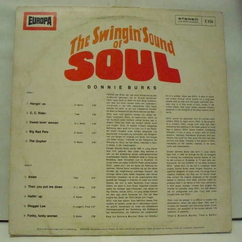 Donnie Burks - The Swingin' Sound Of Soul - Vinyl - LP