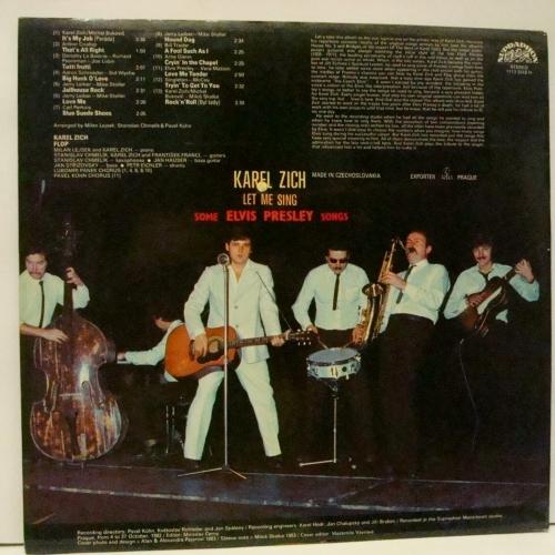 Karel Zich - Let Me Sing Some Elvis Presley Songs - Vinyl - LP