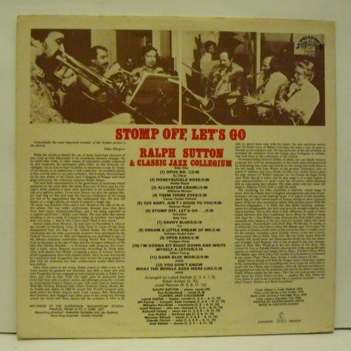 Ralph Sutton  & Classic Jazz Collegium - Stomp Off, Let's Go  - Vinyl - LP