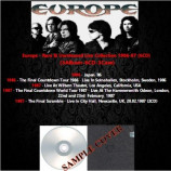Europe - Rare & Unreleased Live Collection 1986-87