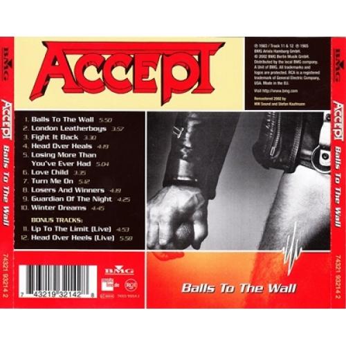 ACCEPT - Balls To The Wall - CD - Album