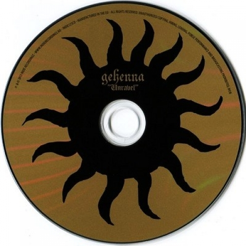 GEHENNA - Unravel - CD - Album