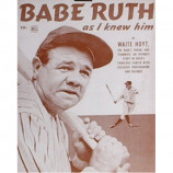 Babe Ruth - As I Knew Him - Sepia Print