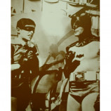 Batman & Robin - Adam West - Sepia Print