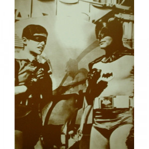 Batman & Robin - Adam West - Sepia Print - Books & Others - Others