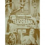 Bettie Page & Tempest Storm - Teaserama - Sepia Print