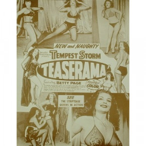 Bettie Page & Tempest Storm - Teaserama - Sepia Print - Books & Others - Others