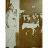 Billie Holiday - At The Microphone - Sepia Print