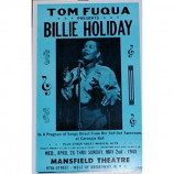 Billie Holiday - Mansfield Theatre - Concert Poster