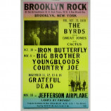 Byrds - Brooklyn Rock - Concert Poster