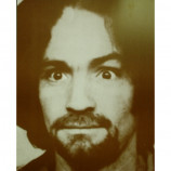 Charles Manson - Close Up - Sepia Print
