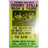Crosby, Stills, Nash & Young - Summer Jam West 1974 - Concert Poster