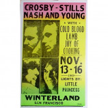 Crosby, Stills, Nash & Young - Winterland San Francisco 1969 - Concert Poster