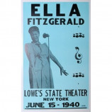 Ella Fitzgerald - Lowe's State Theater - Concert Poster