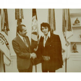Elvis Presley & Richard Nixon - Shaking Hands - Sepia Print