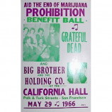 End Of Marijuana Prohibition Benefit Ball - San Francisco 1966 - Concert Poster