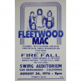 Fleetwood Mac & Fire Fall - Swing Auditorium 1976 - Concert Poster
