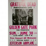Grateful Dead - Golden Gate Park - Concert Poster