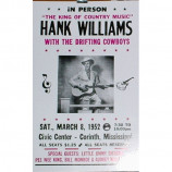 Hank Williams - Civic Center - Concert Poster