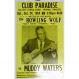 Howlin' Wolf & Muddy Waters - Memphis,TN 1964 - Concert Poster
