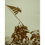 Iwo Jima - Mt. Suribachi - Sepia Print
