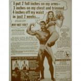 Joe Weider - Ad With Arnold Schwarznegger - Sepia Print