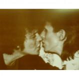Lou Reed & David Bowie - Kissing - Sepia Print