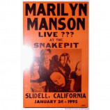 Marilyn Manson - Live ??? At The Snakepit - Concert Poster
