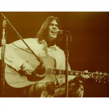 Neil Young - At The Microphone - Sepia Print