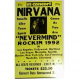 Nirvana - 1992 Tour - Concert Poster