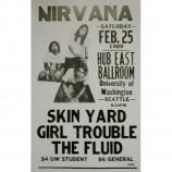 Nirvana - Hub East Ballroom - Concert Poster