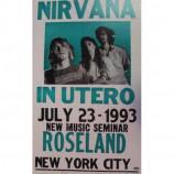 Nirvana - In Utero Tour 7/23/93 - Concert Poster