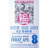 Ringling Bros. And Barnum & Bailey Circus - Madison Square Garden - Concert Poster