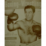 Rocky Marciano - Cover Of Boxing & Wrestling - Sepia Print