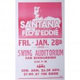 Santana W/ Flo & Eddie - Swing Auditorium - Concert Poster