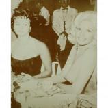 Sophia Loren & Jayne Mansfield - Sneaking A Peek - Sepia Print