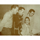 Sun Records Dream Team - Elvis Presley, Johnny Cash - Sepia Print