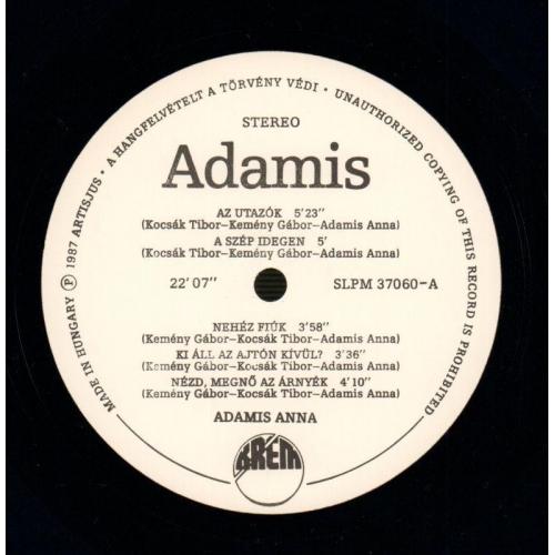 Adamis Anna - Adamis Anna - Vinyl - LP