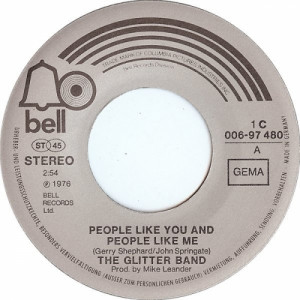 """Glitter Band - People Like You And People Like Me / Makes You Blind - Vinyl - 7"""""""