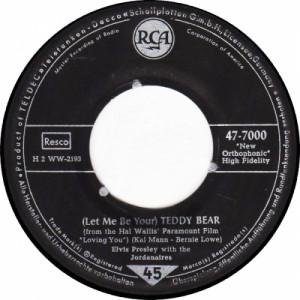 "Elvis Presley - (Let Me Be Your) Teddy Bear / Loving You - Vinyl - 7"""