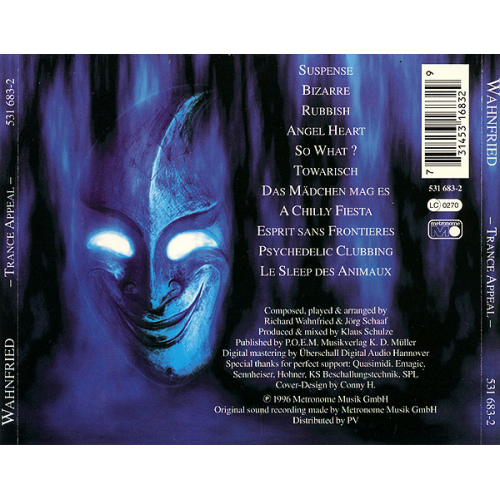 WAHNFRIED - Trance Appeal  - CD - Album