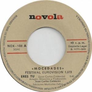 """Mocedades - Festival Eurovision 1973 - Vinyl - 7"""""""