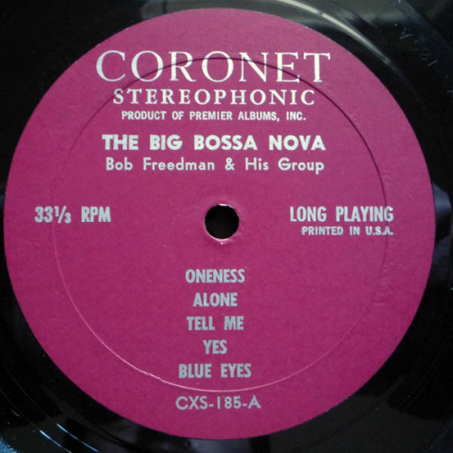 Bob Freedman And His Group - The Big Bossa Nova - Vinyl - LP