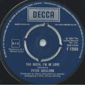 """Peter Skellern - Hold On To Love / Too Much, I'm In Love - Vinyl - 7"""""""