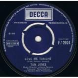 Tom Jones - Love Me Tonight  / Hide And Seek