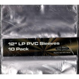 12 INCH PVC SLEEVES : 10 PACK - CLEAR - Merchandise