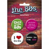 BADGE PACK - THE 80'S - Badges