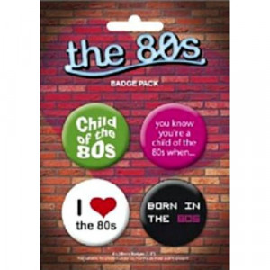 BADGE PACK - THE 80'S - Badges - Books & Others - Others